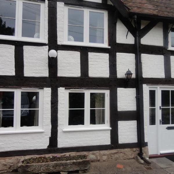 Tudor style house windows