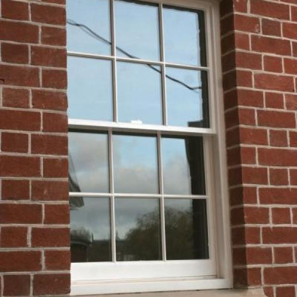 Bespoke square pane window